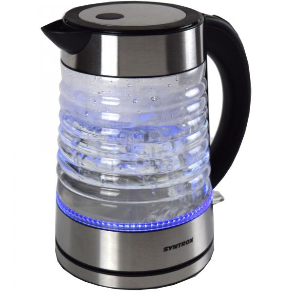 Edelstahl Wasserkocher Agua Wasserkessel Teekessel kabellos Glas