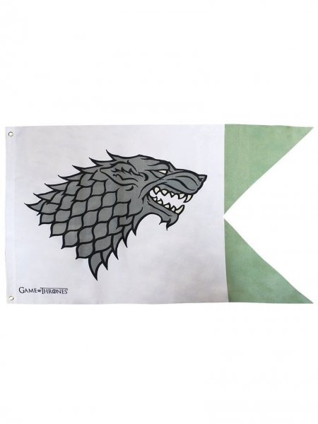 GAME OF THRONES BANNER Haus Stark Wolf