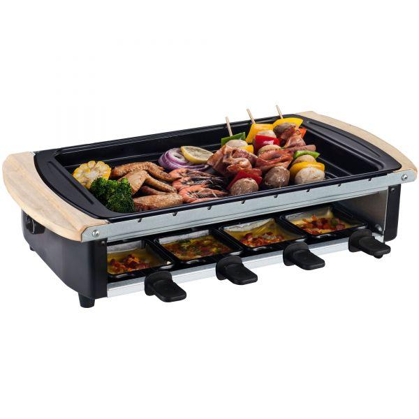 Raclette mit Wechselplatten und 8 Pfännchen
