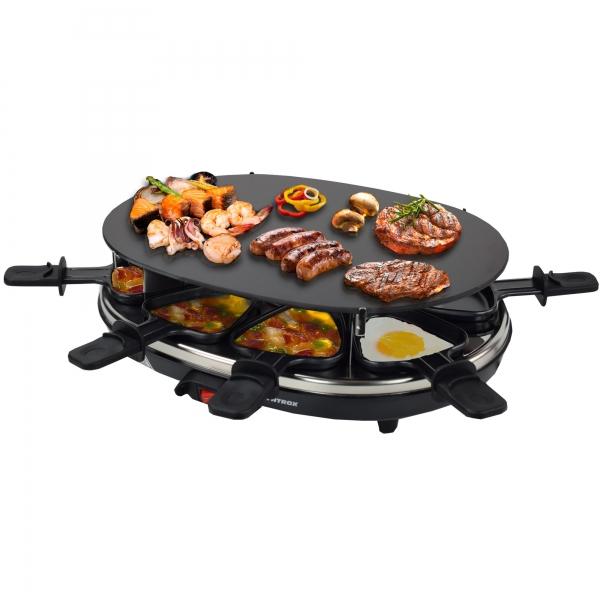 Raclette mit Grillplatte, 8 Pfännchen Chur