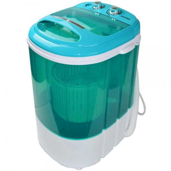 Toplader Schleuder Single Camping Kleine Klein Mini Waschmaschine 200W blau