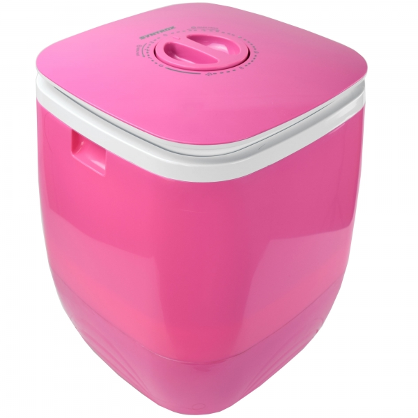 Toplader Schleuder Single Camping Kleine Klein Mini Waschmaschine 150W pink