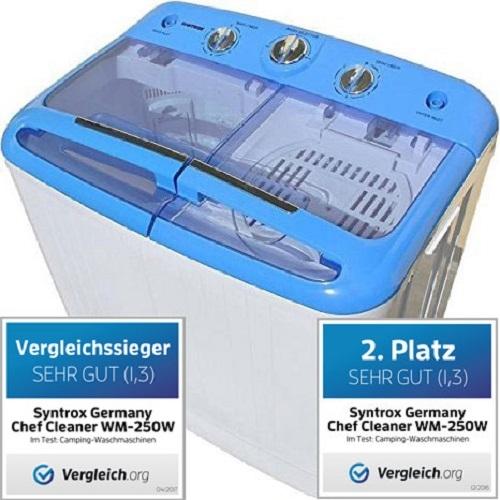 Toplader Schleuder Single Camping Kleine Klein Mini Waschmaschine 250W