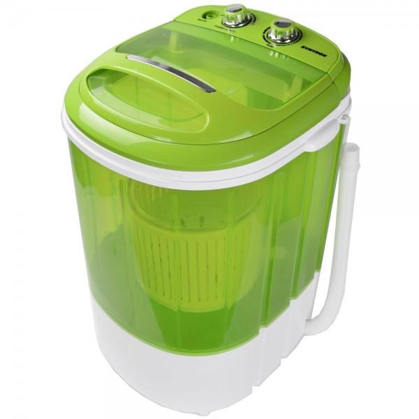 Toplader Schleuder Single Camping Kleine Klein Mini Waschmaschine 200W Grün