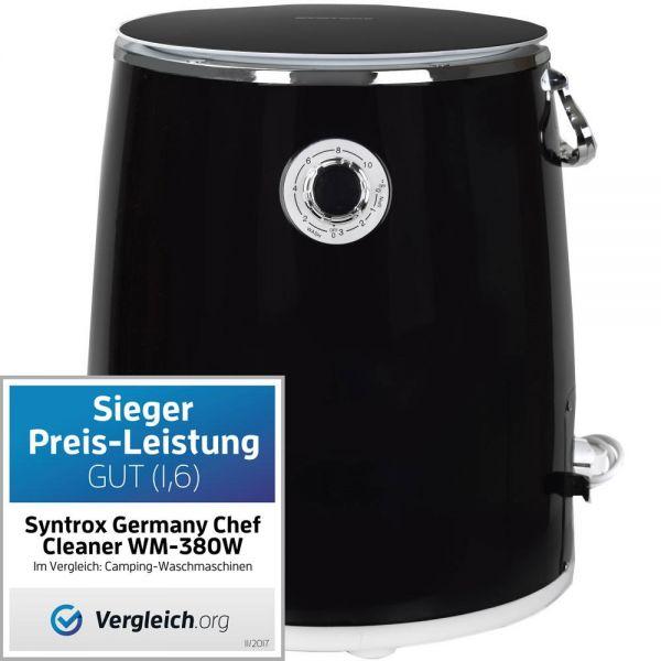 Toplader Schleuder Single Camping Kleine Klein Mini Waschmaschine 380W schwarz