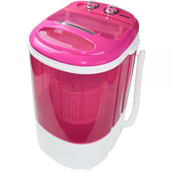 Toplader Schleuder Single Camping Kleine Klein Mini Waschmaschine 200W pink