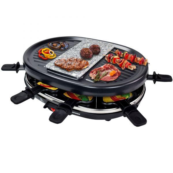 Raclette mit 8 Pfännchen und heißem Stein