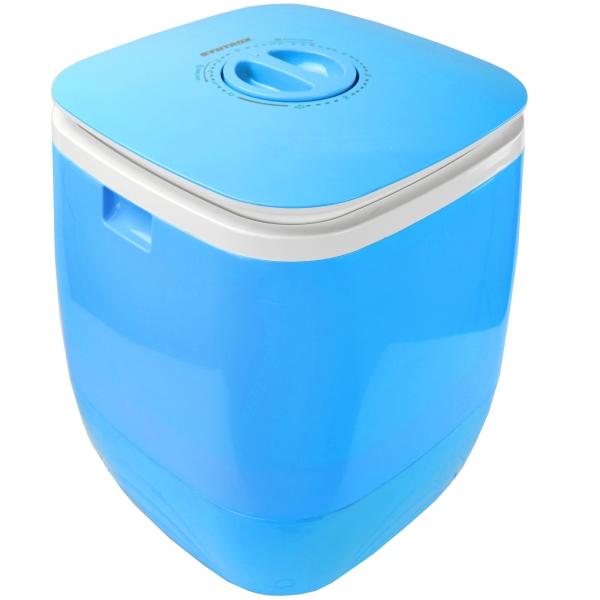 Toplader Schleuder Single Camping Kleine Klein Mini Waschmaschine 150W blau